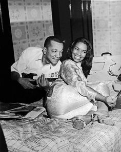 Comedian Redd Foxx with his second wife, dancer, Betty Jean Harris. They were married from 1956-1975
