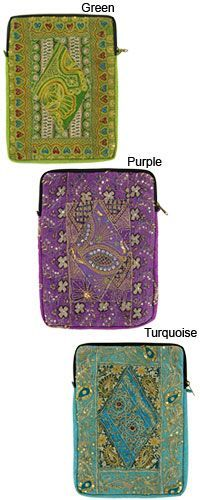 $32.00 These pretty antique Sari iPad cases fund 50 cups of food for people in need at www.thehungersite.com/store.
