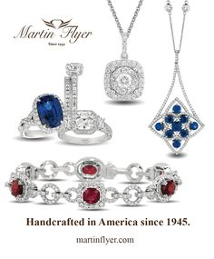 Celebrate American Independence day in style!! Martin Flyer has been handcrafting Jewelry in the good ole' USA since 1945. Visit us online to browse, shop or find the Martin Flyer Authorize Retailer nearest you.  www.MartinFlyer.com #madeinamerica