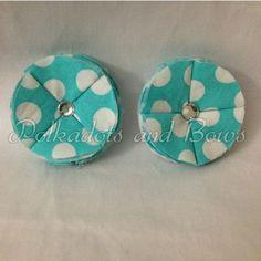 *handmade* polkadots flower clip