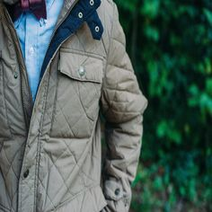 Highlands Jacket by Buffalo Jackson http://buffalojackson.com/highlands-quilted-jacket-waxed-cotton-khaki.html