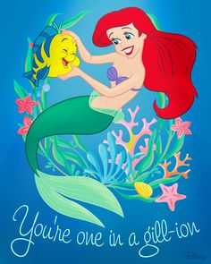 The Little Mermaid // La Sirenita // Princess // Disney Mermaid Illustration, Funny Illustration, Disney Princess Ariel, Disney Girls, Disney Princesses, Disney Songs, Disney Art, Disney Quotes, Disney Dream