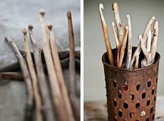 making crochet hooks from sticks