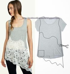 11wonderful Ideas to Refashion shirt into Chic Top5