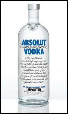 la genuina botella de absolut