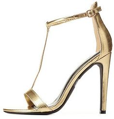 Charlotte Russe Textured Metallic T-Strap High Heels http://www.shopstyle.com/action/loadRetailerProductPage?id=470779503&pid=uid1209-1151453-20