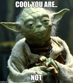 30 super funny memes for your Sunday - Humor - star wars Star Wars Meme, Star Wars 2, Star Wars Quotes Yoda, Funny Fishing Memes, Funny Memes, Yoda Quotes Funny, Yoda Funny, Funny Sunday Memes, Sunday Humor