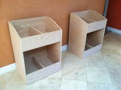 Completed vinyl record storage bins I like these but they are a little wider than I want