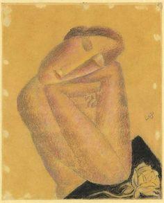 Vrouwenfiguur op haar armen gesteund /female figure leaning on her arms by Leo Gestel. Leo, Modernisme, Piet Mondrian, Dutch Painters, Futurism, Cubism, Online Art, Mona Lisa, Abstract Art