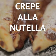 Crepe alla Nutella - List of the best food recipes Crepe Recipes, Dessert Recipes, Dessert Food, Crepes Nutella, Tasty, Yummy Food, Italian Recipes, Love Food, Sweet Recipes