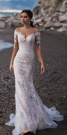 Wedding Dress Wedding Souvenirs Cheap Wedding Venues Near Me Outdoor Wedding Modest Mother Of The Bride Dresses - Vestito da sposa Lace Beach Wedding Dress, Dream Wedding Dresses, Bridal Dresses, Wedding Gowns, Lace Dress, Bridesmaid Dresses, Mermaid Wedding, Wedding Venues, Reception Dresses