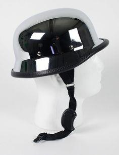 german chrome motorcycle helmet 29.95 free shipping #germanhelmet #motorcyclehelmet #motorcyclehelmets http://leatherdropship.com