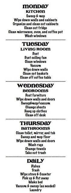 13 Quick Cleaning Tips: Clean Your House Fast 13 Quick Cleaning Tips: Clean Your House Fast,Haushalt Cleaning Schedule – lots of chores assigned each day, but I think once you get in the habit,. Diy Cleaning Products, Cleaning Solutions, Cleaning Hacks, Cleaning Schedules, Organizing Tips, Cleaning Routines, Deep Cleaning, Home Cleaning, Apartment Cleaning Schedule