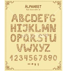 Hand drawn retro font vector by neyro2008 on VectorStock®