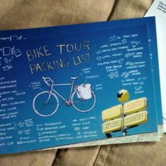 Bike Tour Packing List Postcard