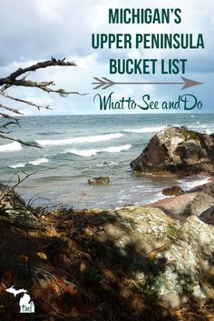 Michigan's Upper Peninsula Bucket List - This Michigan Life Michigan's Upper Peninsula Bucket List - Michigan Travel<br> All the must-see and do things on your next trip to Michigan's beautiful Upper Peninsula. Michigan Vacations, Michigan Travel, Camping Michigan, Lake Michigan Vacation, Traverse City Michigan, Rv Camping, Campsite, Backpacking, Vacation Destinations