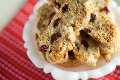 Cranberry-Pistachio Christmas Biscotti from Crumb