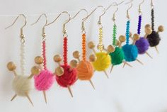 Yarn Ball Earrings!!!  You can buy them, but I'm going to try to make them.