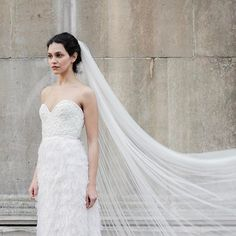 You know we love a veil here at @halfpennylondon But the don't have to be covered in lace and detail, although I do have a weakness for spotty veils, this simple long veil looks magical with the fits headed corset and swan tulle petal skirt...MILLIE MACKINTOSH