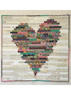 Have a Heart Quilt Pattern 2019 Use your favorite color to make this lovely quilt. This Jelly Roll pattern also makes a great scrap quilt. Finished size is 74 x The post Have a Heart Quilt Pattern 2019 appeared first on Quilt Decor. Heart Quilt Pattern, Jelly Roll Quilt Patterns, Scrap Quilt Patterns, Patchwork Heart, Crazy Patchwork, Crazy Quilting, Heart Quilts, Jellyroll Quilts, Scrappy Quilts