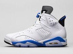 "An official look at the ""Sport Blue"" Air Jordan 6 Retro."
