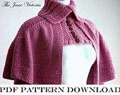 Mantelet Knitting PATTERN, R. E. Linwelin, PDF DOWNLOAD (Outlander)
