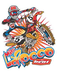 See the amazing work of Wally Hackensmith, the motocross cartoons designed for leading athletes motocross Cartoon Design, Cartoon Art, Motos Trial, Motocross Tracks, Cast Art, Bike Illustration, Lion Art, Bike Rider, Motorcycle Art