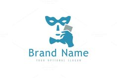 For sale. Only $29 - game, face, card, hidden, masked, disguise, poker, human, character, hand, identity, blue, gray, memorable, modern, simple, mask, serious, casino, betting, club, event, art, gallery, theater, masquerade, ticket, serious, logo, design, template,