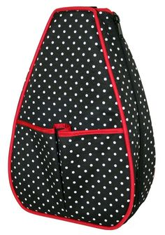 Check out our Polka Dot with Red Lining 40 Love Courture Ladies Sophi Tennis Backpacks! Find the best tennis gear and accessories at Lori's Golf Shoppe. Click through now to see this Tennis Backpacks!