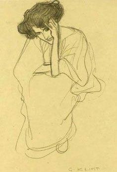 Resultado de imagem para drawings Gustav Klimt art