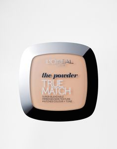 True Match powder by L'Oreal Blendable fine soft powder Perfectly matches the colour and texture of your skin Blots shine for a natural finish, or build for more coverage