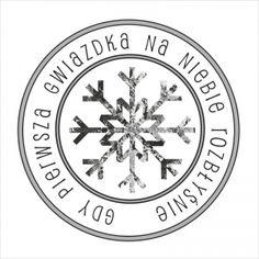 Stempel okrągły vintage - Śnieżny