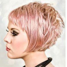 Pink Short Blonde Hairstyle