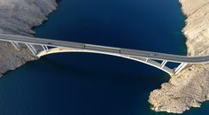 Brücke Insel Pag Kroatien