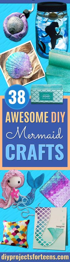 Diy Mermaid Crafts - 30 Minute Mermaid Skirt - How To Make Room Decorations, Art. - Diy Mermaid Crafts – 30 Minute Mermaid Skirt – How To Make Room Decorations, Art Projects, Jewe - Diy Projects For Teens, Diy For Teens, Diy Crafts For Kids, Fun Crafts, Arts And Crafts, Art Projects, Kids Diy, Decor Crafts, Mermaid Crafts