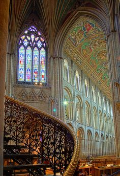 Curves and Arches - Ely Cathedral, Cambridgeshire, England                                                                                                                                                      More