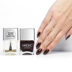 """""""Let it snow this season with new bestselling Snow Globe nail polish! We recommend painting over deep cherry Victoria for a super luxe finish. Get the look…"""""""
