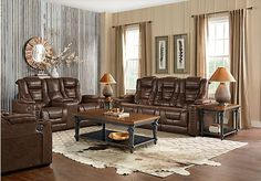 Eric Church Highway To Home Chief Brown 3 Pc Living Room with Dual Power Reclining Sofa - Reclining Living Rooms (Brown) Find Furniture, Furniture Styles, Living Room Furniture, Power Reclining Loveseat, Eric Church, Power Recliners, Living Room Sets, House Rooms, Family Room