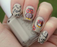 NOTD – Owl Love | Coewless nail polish blog