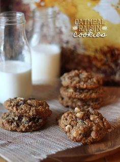 Oatmeal Raisin Cookies....my all time favorite Oatmeal cookies recipe!  We've been making them for YEARS!