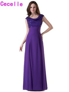Real Photos Purple Long Modest Bridesmaid Dresses With Cap Sleeves A-line Floor Length Outdoor Formal Wedding Party Gowns Custom