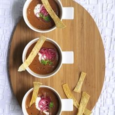 Smoky spiced black bean soup with pickled lime onions from new 'Skinny Meals in Heels' cookbook. #foodgawker