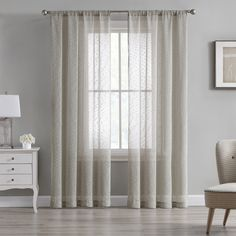 Beatrice Cleo Sheer Textured Window Curtains Rod Pocket Drapes, Tan Beige – Window Treatments – Home & Kitchen Window Curtain Rods, Window Panels, Window Curtains, Beige Curtains, Curtains Living, Curtain Length, Types Of Curtains, Kitchen Window Treatments