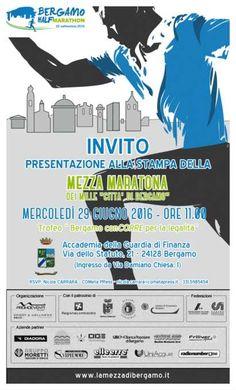 """MEZZA MARATONA DEI MILLE """"Città di Bergamo"""" – mercoledì 29 giugno 2016 la presentazione alla stampa"""