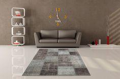 Teppich Fußbodenteppich Modern Design Atlas 560 Silber 200cmx290cm A102671
