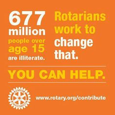 Rotary promotes literacy.