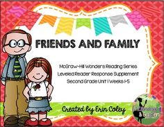 Wonders Leveled Reader Response Unit 1: Friends and Family (2nd Grade)  These leveled reader response sheets are a fun and interactive way for your students to respond to their leveled readers during guided reading.