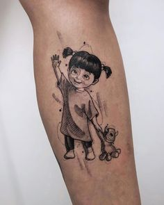 Boo   Fofurinha feita pelo artista @guiferreiratattoo.  Gostou? Mostre aos seus amigos!  Estamos também nos perfis:  @tattoo2us   @tattoo2me   @trendstattoo   @piercing2me   @drawing2me #tattoo2me Mini Tattoos, All Tattoos, Unique Tattoos, Body Art Tattoos, Tattoos For Guys, Sleeve Tattoos, Cartoon Tattoos, Disney Tattoos, Tattoo Sketches