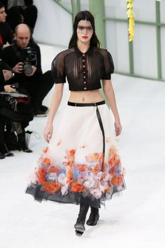 Kendall Jenner Chanel Haute Couture SS2015 Paris Fashion Week