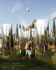 Guillermo Hevia García and Nicolás Urzúa have created a concealed garden fenced in by mirrors for the Santiago edition of MoMA's Young Architects Program